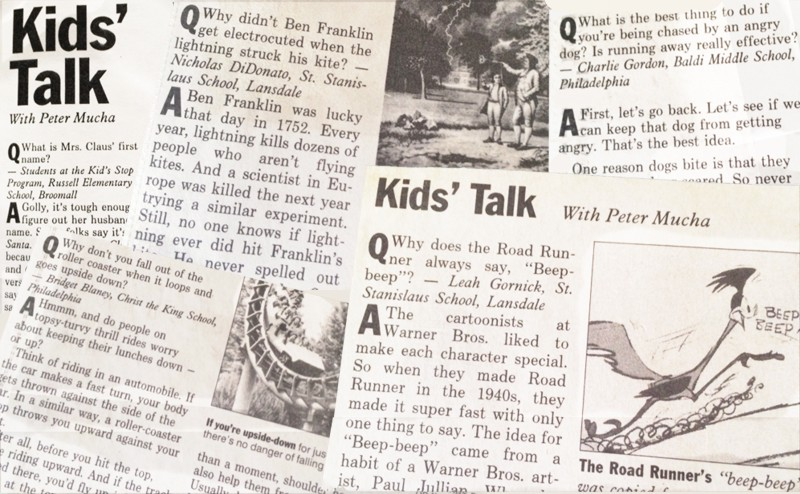 Kids Talk columns by Peter Mucha